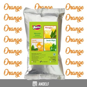 Bubuk Minuman Orange / Jeruk Kemasan 500 Gram