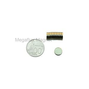 GE - Lingkaran 10 mm x 2 mm. Magnet Neodymium. Ekonomis