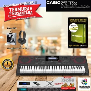 Keyboard Casio CTX-5000 + Stand / CT-X5000 / CTX5000 - diatas psr e463