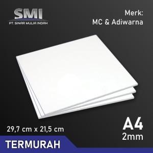 Akrilik Lembaran Potongan A4 2 MM Putih Susu Tembus - SMI Store
