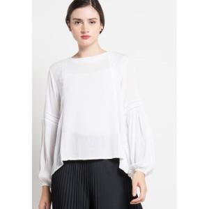 Blouse Wanita EDITION EB30WHITE Vagoting Long Sleeve