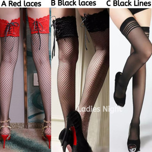 Black Stocking (Stoking Model Jaring) -Acc Lingerie