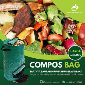 Compost Bag 80 Liter Tas Daur Ulang Sampah Organik Pupuk Tanaman Murah