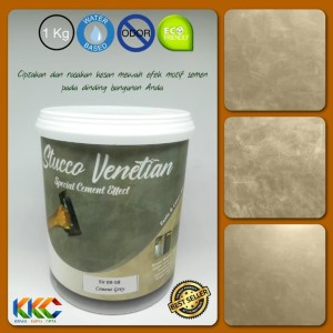 Stucco Venetian Motif Semen Tipe Cement Grey SV 09-58 Ukuran 1Kg