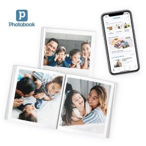 """Album Foto Mini 6"""" x 6"""" 20 Halaman Hardcover Persegi dari Photobook"""