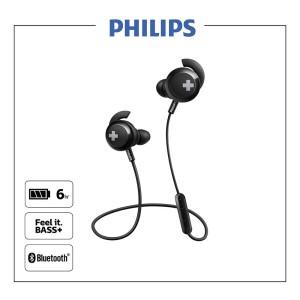 Philips SHB4305BK BASS+ Wireless Bluetooth Earphone Black