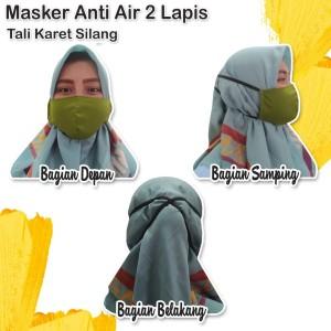 Masker Anti Air Pelindung Mulut dan Hidung Waterproof Bahan Goretex