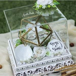 Kotak Perhiasan | Ringbox Tera 19 Ocean + Acrylic