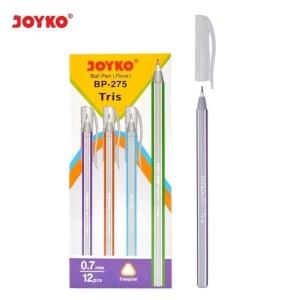 Ballpoint JOYKO BP-275 Tris 0,7 Hitam (Pack 12 Pcs)