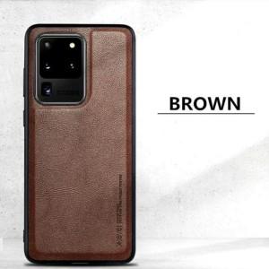 Samsung S20 Plus X-Level Premium Leather Case Casing Original - Coklat