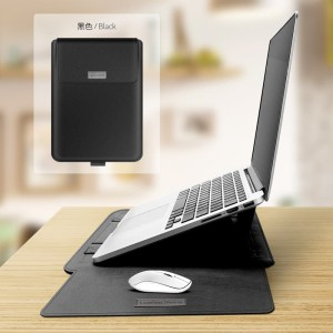 Premium Laptop Sleeve PU Leather with Mousepad and Kickstand 13 inch