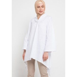 Tunic EDITION EB147WHITE Long Sleeve Woven