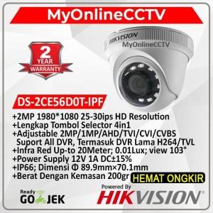 Kamera DS-2CE56D0T-IPF Hikvision DS-2CE56DOT-IPF CCTV Indoor 2MP 4in1