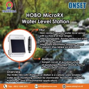 AWLR Data Logger Ketinggian air HOBO MicroRX Water Level RX2104