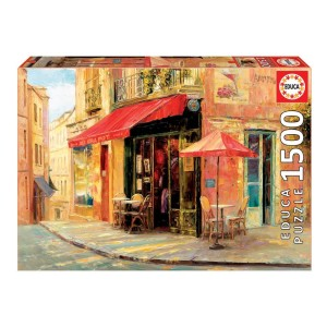 1500 Piece Puzzle: Hillside Cafe