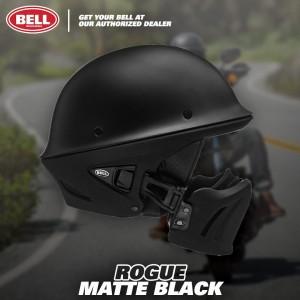 Helm Bell Rogue Matte Black Open Face Cruiser