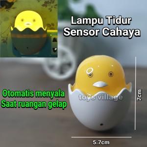 Lampu Tidur LED Sensor Cahaya bentuk Egg Telur Ayam Lampu Kamar Anak