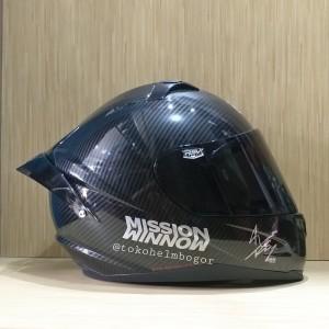 RSV FF500 motif carbon visor smoke & spoiler GPR stiker silver