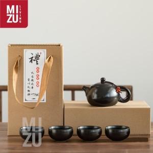 OOLONG Classic Chinese Tea Pot Teko SET 4 Cups Ceramic Gift Box
