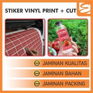 STICKER VINYL + CUTTING (Cetak / Print Vinyl Termurah)