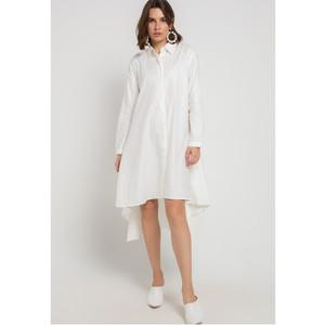 EDITION WOMEN ED96WHITE Long Sleeve Woven Dress