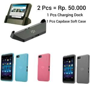 SALE!! Blackberry Z10 (Charging Dock & 1 Pc Transform Shell Original)