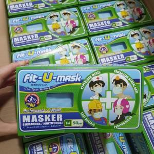 Masker Medis 3ply Medical Mask Surgical Masker Kesehatan isi 50pcs/box