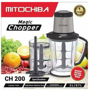 Mitochiba Blender Food Chopper Daging dan Bumbu 3 Pisau CH 200 Steel
