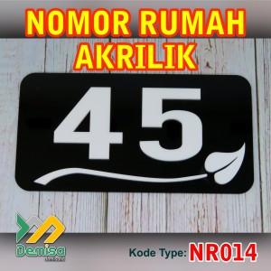 Nomor Rumah Akrilik - 25 x 15cm - (Type NR014)
