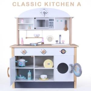 Classic Kitchen Set A Wooden Toys Pretend Play Mainan Anak Kayu Dapur