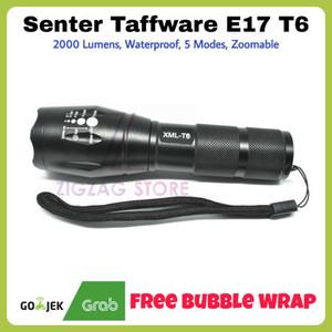 Senter LED Taffware E17 CREE XML2 8000 Lumens + Bat & Charger