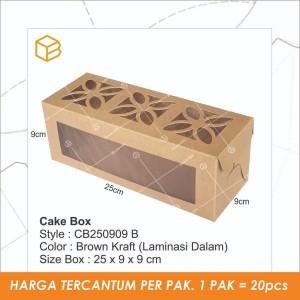 Dus Bolu Gulung, Roll Cake Box, Box Kue Brownies Kukus - CB250909
