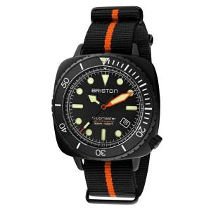 Jam Tangan Pria Automatic Briston Diver Pro Acetate HMS Orange 44mm