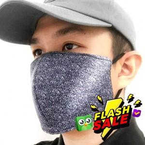 Masker Kain Katun Denim 3 Layer Bahan Tebal Karet Kuat Dapat dicuci