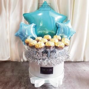 Ferrero Rocher 12pcs Box Bouquet | Buket Coklat Ferrero Bloom Box