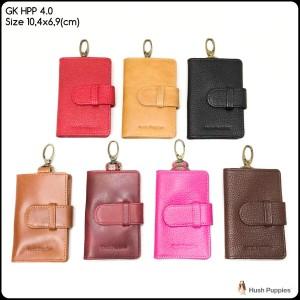 gantungan kunci hush puppies 4.0 keychain dompet stnk kulit keyfinder