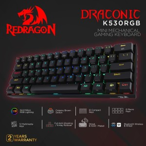 Redragon Dual Mode Mechanical Gaming Keyboard DRACONIC - K530RGB