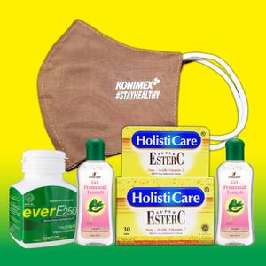 Paket Holisticare Ester C + Ever E + Konicare Gel Pembersih Tangan