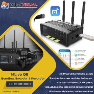MLive Q8 - (3 in 1) Live 4G Bonding, Encoder, Recorder