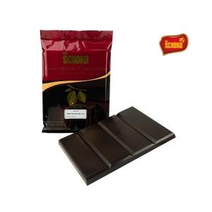 SCHOKO Dark Chocolate Couverture 72% Blok / Packing 1 Kg Cokelat