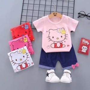 Setelan Baby Import Hello Kitty Cantik