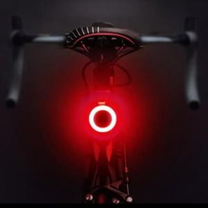 Lampu Belakang Sepeda LED Lampu Sepeda Belakang USB Charge Bulat Merah