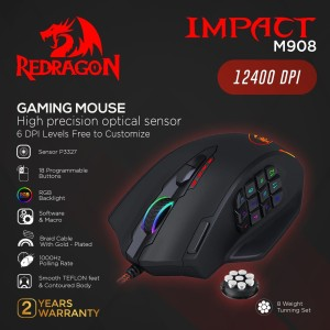 Redragon Gaming Mouse IMPACT - M908