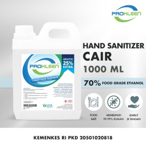 Hand Sanitizer CAIR 70% Food Grade Antiseptic Aseptic PROKLEEN 1L