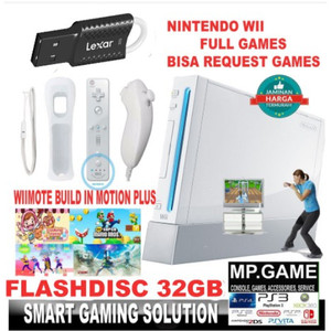 Paket Nintendo Wii + 32gb Flashdisc Full Games Nintendowii