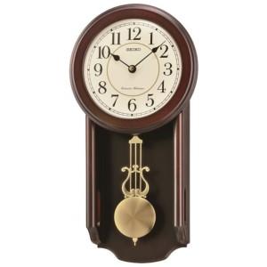 Aerocart Official Store SEIKO QXH063B Wooden Case Pendulum Wall Clock
