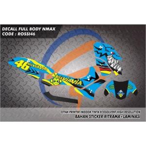 STIKER NMAX STICKER DECAL N MAX DAN NEW N MAX FULL BODY ROSSI 46