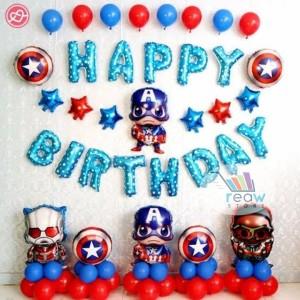 Paket Dekorasi Hiasan Balon Happy Birthday / Ulang Tahun Avenger 02