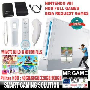 Paket Nintendo wii 320gb + 2 Set Wiimote nunchuck