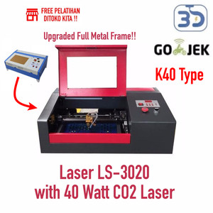 Zaiku CNC LS-3020 with 40 Watt Laser CO2 untuk Cutting dan Grafir